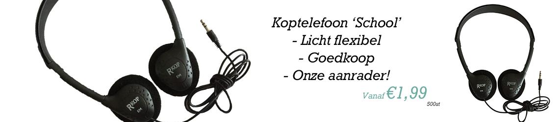Koptelefoon school